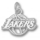 """Los Angeles Lakers 3/8"""" Logo Charm - Sterling Silver Jewelry"""