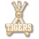 """Louisiana State (LSU) Tigers """"Tigers Baseball Bats"""" Pendant - 14KT Gold Jewelry"""