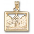 "Marquette Golden Eagles ""Joan of Arc Chapel"" Pendant - 14KT Gold Jewelry"