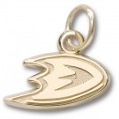 "Anaheim Ducks 3/8"" Foot Logo Charm - Gold Plated Jewelry"