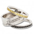 Anaheim Ducks Logo Crystal Stacked Ring Set (Size 7)