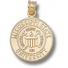"Mississippi State Bulldogs ""Seal"" Pendant - 14KT Gold Jewelry"