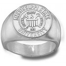 "Mississippi State Bulldogs ""Seal"" Men's Ring Size 10 3/4 - Sterling Silver Jewelry"