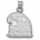 "Miami (Ohio) RedHawks ""Miami University RedHawks Hawk Head"" Pendant - Sterling Silver Jewelry"