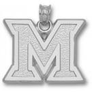 "Miami (Ohio) RedHawks ""M"" Pendant - Sterling Silver Jewelry"