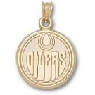 "Edmonton Oilers ""Oilers Logo"" 5/8"" Pendant - 14KT Gold Jewelry"