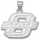 """Oklahoma State Cowboys 1"""" """"O"""" Pendant - Sterling Silver Jewelry"""