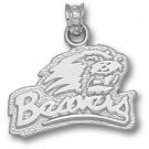 "Oregon State Beavers 1/4"" ""Beavers Head"" Pendant - Sterling Silver Jewelry"