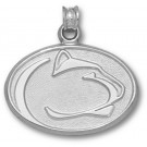 """Penn State Nittany Lions """"Lion Head"""" Pendant - Sterling Silver Jewelry"""