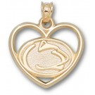 """Penn State Nittany Lions """"Lion Head Heart"""" Pendant - 10KT Gold Jewelry"""