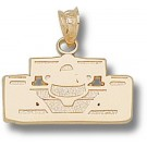 "Indianapolis Motor Speedway ""Open Wheel Car Front View"" Pendant - 14KT Gold Jewelry"