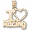 """Indianapolis Motor Speedway """"I Love Racing"""" Pendant - 14KT Gold Jewelry"""