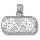 """Indianapolis Motor Speedway Oval """"Track Flags"""" 3/8"""" Pendant - Sterling Silver Jewelry"""