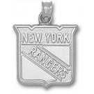"New York Rangers ""Rangers Shield Logo"" 5/8"" Pendant - Sterling Silver Jewelry"