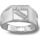 """New York Rangers """"Shield Logo"""" 3/8"""" Ladies' Ring Size 6 1/2 - Sterling Silver Jewelry"""