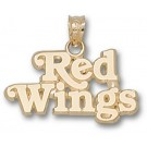 """Detroit Red Wings """"Red Wings"""" Pendant - 14KT Gold Jewelry"""