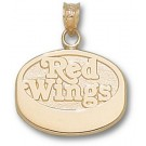"""Detroit Red Wings """"Red Wings Puck"""" Pendant - 14KT Gold Jewelry"""