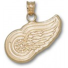 """Detroit Red Wings 5/8"""" Logo Pendant - 10KT Gold Jewelry"""