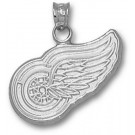 """Detroit Red Wings """"Wing Logo"""" 5/8"""" Pendant - Sterling Silver Jewelry"""