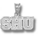 """Seton Hall Pirates """"SHU"""" 1/4"""" Pendant - Sterling Silver Jewelry"""