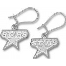 "Dallas Stars 3/8"" Logo Dangle Earrings - Sterling Silver Jewelry"