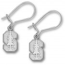 """Stanford Cardinal 3/8"""" """"S with Tree"""" Dangle Earrings - Sterling Silver Jewelry"""