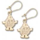 Syracuse Orangemen Mascot Dangle Earrings - 10KT Gold Jewelry