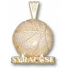 "Syracuse Orangemen ""Syracuse Basketball"" Pendant - 14KT Gold Jewelry"