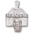 "Syracuse Orangemen ""Syracuse Basketball Backboard"" Pendant - Sterling Silver Jewelry"
