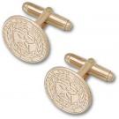 """Texas A & M Aggies """"Seal"""" 10KT Gold Cuff Links - 1 Pair"""
