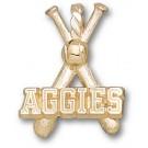 "Texas A & M Aggies ""Aggies Baseball Bats"" Pendant - 14KT Gold Jewelry"