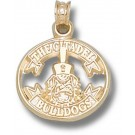 """Citadel Bulldogs """"Citadel Ribbon with Spike"""" 5/8"""" Pendant - 14KT Gold Jewelry"""
