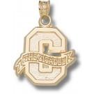 "Citadel Bulldogs Block ""C"" 5/8"" Pendant - 14KT Gold Jewelry"