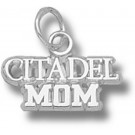 "Citadel Bulldogs ""Citadel Mom"" Charm - Sterling Silver Jewelry"