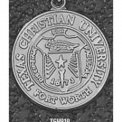 "Texas Christian Horned Frogs ""Seal"" 1"" Pendant - Sterling Silver Jewelry"