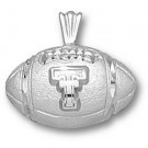 "Texas Tech Red Raiders ""TT Football"" Pendant - Sterling Silver Jewelry"