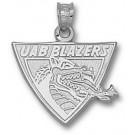 """Alabama (Birmingham) Blazers """"UAB Blazers Dragon Head"""" Pendant - Sterling Silver Jewelry"""