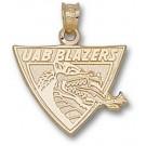 """Alabama (Birmingham) Blazers """"UAB Blazers Dragon Head"""" Pendant - 14KT Gold Jewelry"""