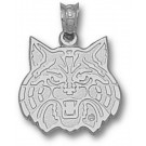 "Arizona Wildcats ""Wildcat Face"" 1/2"" Pendant - Sterling Silver Jewelry"
