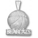 "Cincinnati Bearcats ""Bearcats Basketball"" Pendant - Sterling Silver Jewelry"