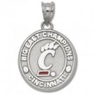 "Cincinnati Bearcats Paw ""C"" Big East Champions Pendant - Sterling Silver Jewelry"