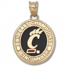 "Cincinnati Bearcats 5/8"" Paw ""C"" Big East Champions Enameled Pendant - 10KT Gold Jewelry"