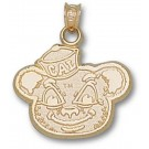 "California (Berkeley) Golden Bears ""Oski Bear"" Pendant - 14KT Gold Jewelry"