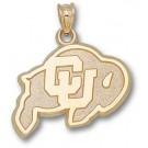 "Colorado Buffaloes 5/8"" ""Ralphie"" Pendant - 10KT Gold Jewelry"