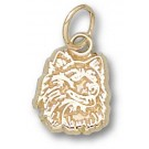 "Connecticut Huskies ""Huskie Head"" 3/8"" Charm - 14KT Gold Jewelry"