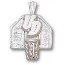 "Dayton Flyers ""UD Basketball Backboard"" Pendant - Sterling Silver Jewelry"