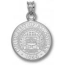 """Evansville Purple Aces """"Seal"""" Pendant - Sterling Silver Jewelry"""