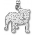 "Georgia Bulldogs ""Full Body Bulldog"" Pendant - Sterling Silver Jewelry"