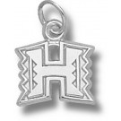 "Hawaii Rainbow Warriors ""H Logo"" 3/8"" Charm - Sterling Silver Jewelry"