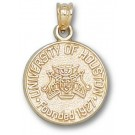 """Houston Cougars """"Seal"""" 5/8"""" Pendant - 14KT Gold Jewelry"""